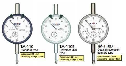 0.01mm, Đồng hồ so TM-110 Teclock, Đại lý phân phối Teclock tại Việt Nam